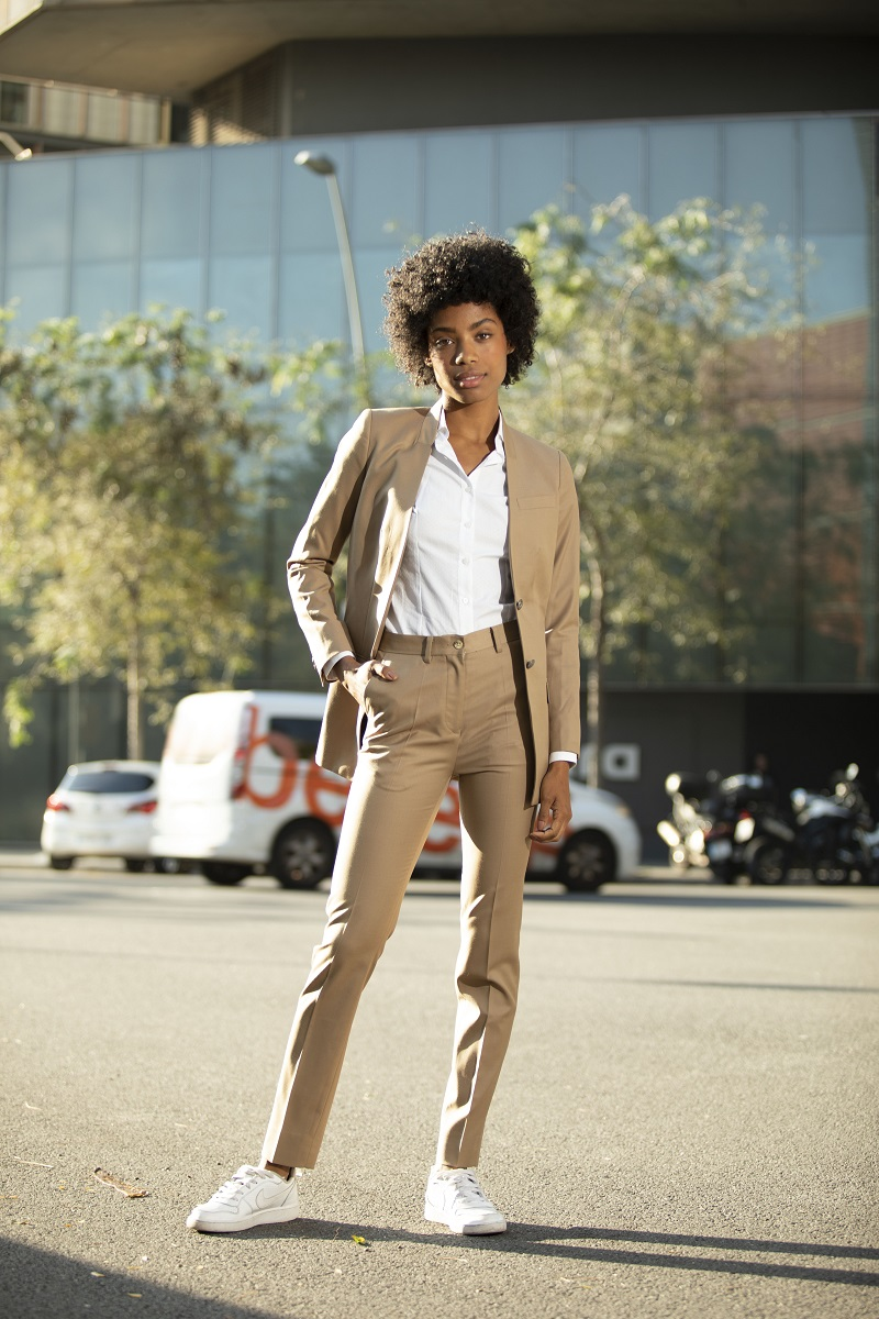 Beige casual suit